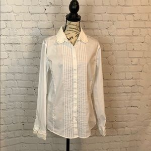Brooks Brother / white / button down blouse / 14